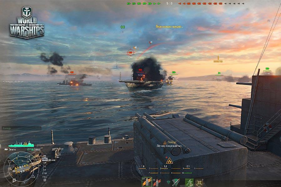 world of warships играть